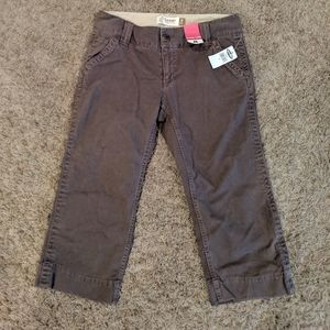 Old Navy Ultra Low Wide-Leg Capris Shorts Brown 8